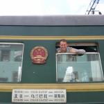 Transmongolie trein! Ruud Boon uit het raam!