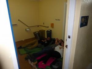 Slapen in een Toilet!