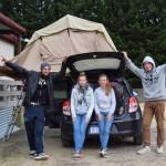 De Duitsers, de tent en de auto!
