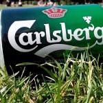 Blikje Carlsberg in het park in kopenhagen!